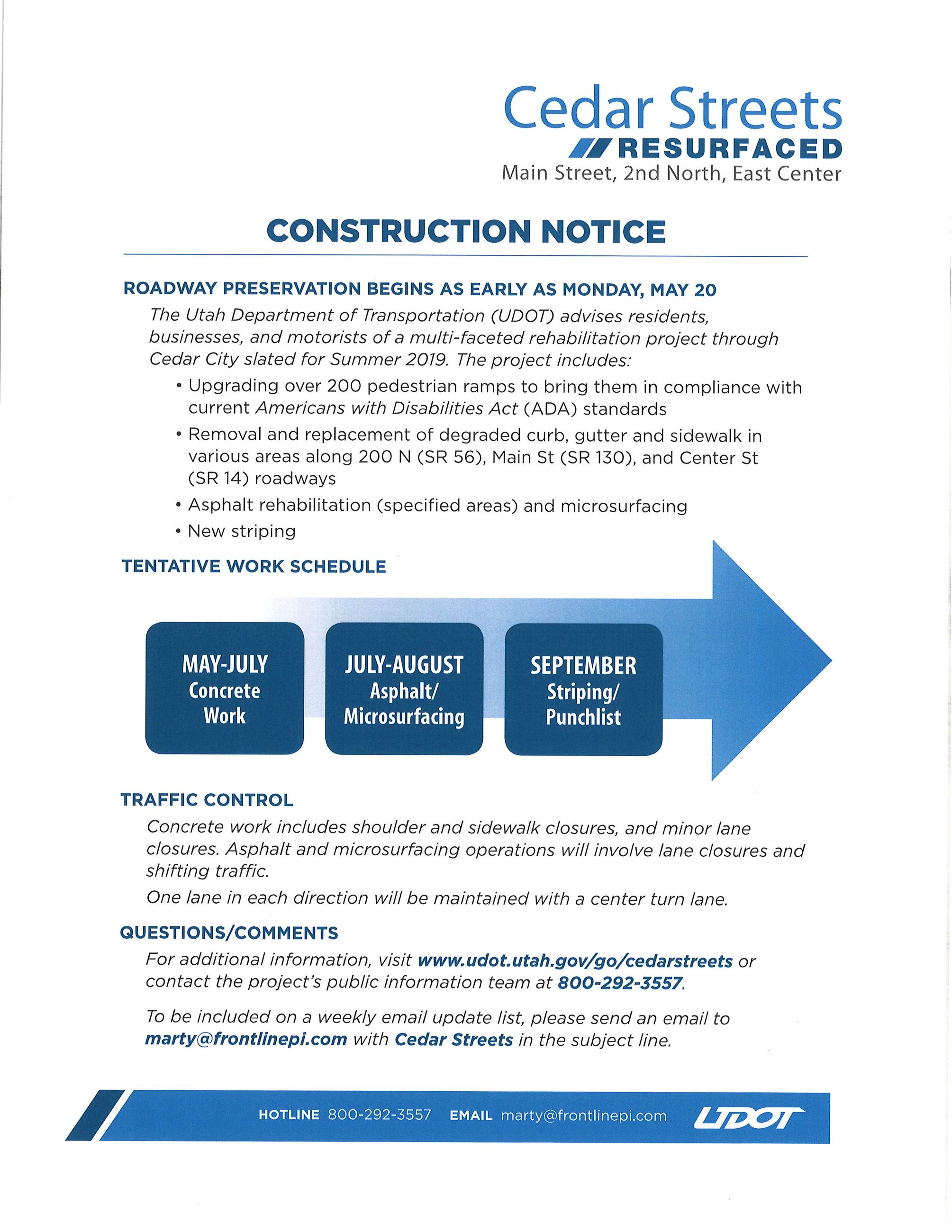 UDOT Summer Info Continued (2)